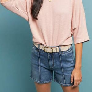 Anthropologie Pilcro high-rise denim shorts